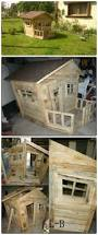 playhouse shed plans 25 ideas to recycle pallets in kids pallet playhouses huts cabins