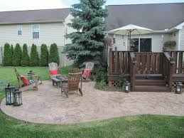 Stamped Concrete Backyard Ideas by This Lower Patio Area Was Designed As A Kidney Shape The Stamped