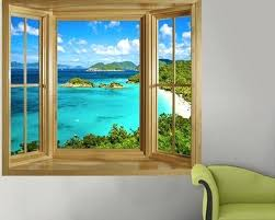 tropical wall decals illusion window murals wall decals tropical