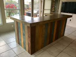 Counter Reception Desk The Rustic Blues Rustic Barn Wood Style Bar Sales Counter