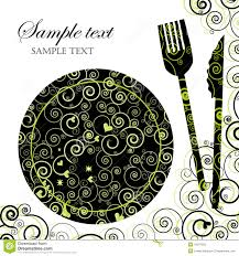menu or dinner party invitation stock photo image 10274320