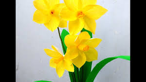 crepe paper flowed daffodils youtube