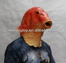 Goldfish Halloween Costume Latex Goldfish Mask Latex Goldfish Mask Suppliers