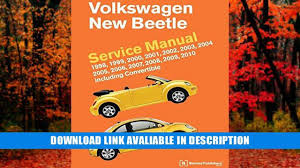 online book volkswagen new beetle service manual 1998 1999 2000