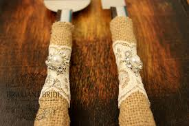 wedding cake server wedding cake server and knife burlap and lace wedding cake