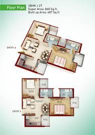 2bhk floor plan greenarch floor plans 2 3 4 bhk apartment in greater noida west