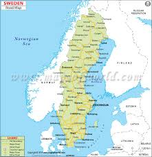 map of sweden road map