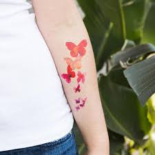 tattly watercolor butterflies set by stina persson from tattly