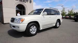 lexus lx470 v8 for sale 1999 lexus lx 470 pearl white stk x0043467 rairdon u0027s dodge