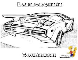 colorable of a lamborghini countach rear view cool super car