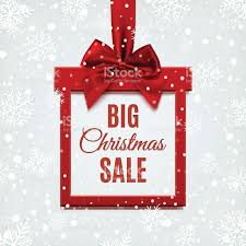 christmas sale big christmas sale square banner in form of gift stock vector
