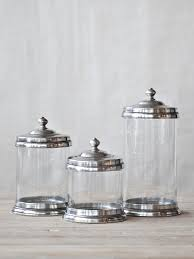 glass canister sets for kitchen drew interiors pewter and glass canister set