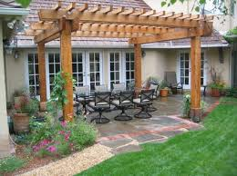 Backyard Rooms Ideas Garden U0026 Outdoor Khaki Pergola Plans With White Ceiling Ideas