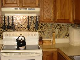 kitchen with mosaic backsplash rustic kitchen backsplash white granite mosaic designs brown