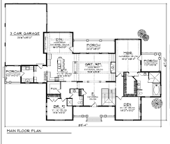 Parts Of A Cathedral Floor Plan by Traditional Style House Plan 4 Beds 3 00 Baths 4579 Sq Ft Plan