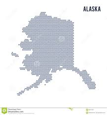Alaska On A Map by Vector Hexagon Map Of State Of Alaska On A White Background Stock