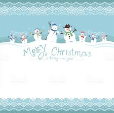 cute and funny snowmen template christmas cards vector
