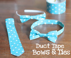 duct tape bows and ties repeat crafter me