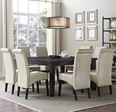 amazon com simpli home 9 piece avalon dining set satin cream