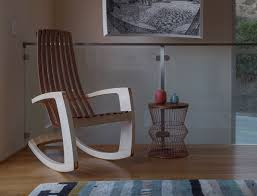 Modern Rocking Chair Nursery J Rusten Furniture Studio The Modern Rocking Chair