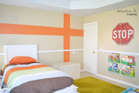 What Colors Go With Burnt Orange Boys Bedroom With Orange Accents