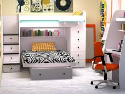 twin over full space saver with chest and stairs bedroom