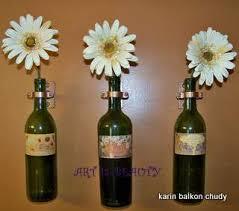 Wine Bottle Home Decor Re Using Old Wine Bottles For Wall Vases Hometalk