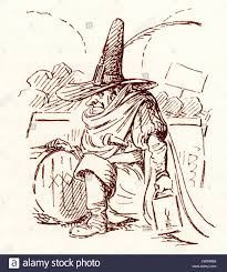 comic sketch by t s seccombe showing guy fawkes stock photo
