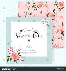 invitation greeting save date card wedding invitation greeting stock vector 725897218