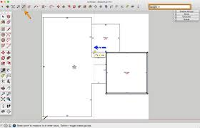 how to draw a basic 2d floor plan from an image file in sketchup