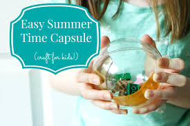 easy diy summer time capsule for kids momadvice