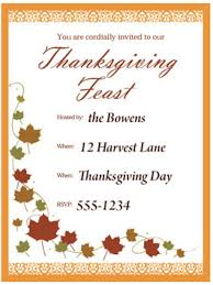 free printable thanksgiving invitations u2013 festival collections