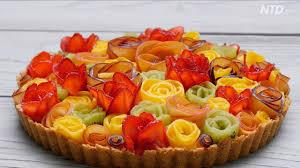 fruit rose tart 水果玫瑰塔 youtube