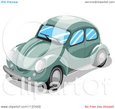 volkswagen beetle clipart clipart of a green vw slug bug car royalty free vector