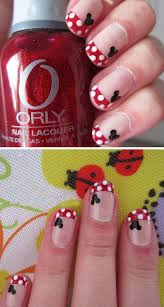 minnie mouse dots 22 easy nail art designs for short nails diy
