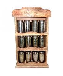 portaspezie legno da cucina portaspezie vintage 12 barattoli