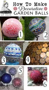 diy garden balls tips ideas garden balls glass lights and