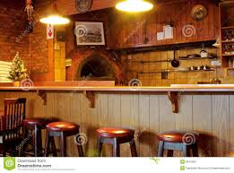 bar counter family restaurant interior bar counter kitchen stock photo