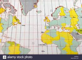 Detailed World Map Standard Time by Atlantic Standard Time Zone Chart Stock Photo Royalty Free Image