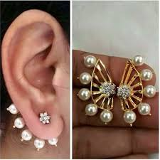 ear cuffs india shining gold plated ear cuffs earrings for women combo