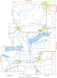 Wisconsin Counties Map by Green Lake County Wisconsin Map