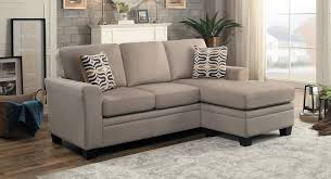 Reversible Sectional Sofa by Homelegance Synnove Reversible Sectional Sofa Light Brown Fabric