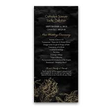 wedding ceremony programs wedding ceremony programs gold and black floral