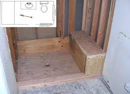 Bathroom Shower With Seat Bathroom Bench Seat Realvalladolid Club