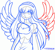 how to draw an anime angel angel step by step fantasy