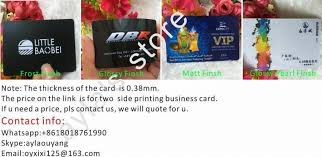 Thickness Of Business Card Thickness 0 38mm Customized Two Sided Printing Business Card