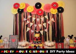 mickey mouse birthday party ideas domesticated mickey mouse clubhouse diy party ideas