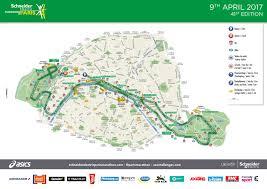 Marathon Route Map by Schneider Electric Marathon De Paris Route U0026 Profile
