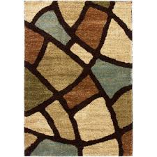 Modern Area Rug by Well Woven Avenue Wavy Shapes Green 6 Ft 7 In X 9 Ft 3 In