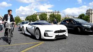 citroen supercar citroën gt and citroën survolt cruising in paris youtube